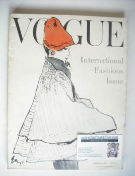 British Vogue magazine - September 1955 (Vintage Issue)