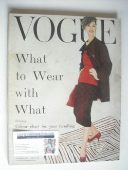 British Vogue magazine - October 1955 (Vintage Issue)