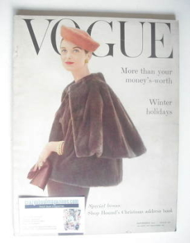 British Vogue magazine - November 1955 (Vintage Issue)
