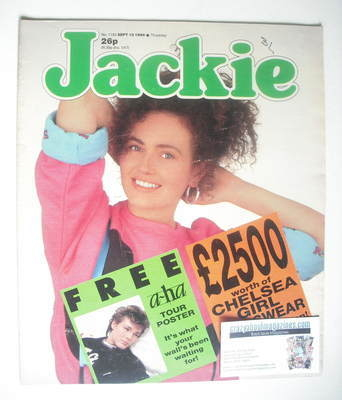 <!--1986-09-13-->Jackie magazine - 13 September 1986 (Issue 1184)