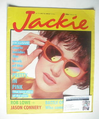 <!--1986-07-19-->Jackie magazine - 19 July 1986 (Issue 1176)