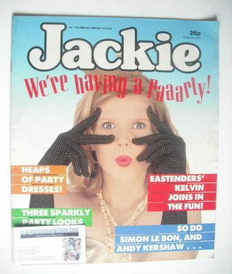 <!--1986-12-20-->Jackie magazine - 20 December 1986 (Issue 1198)