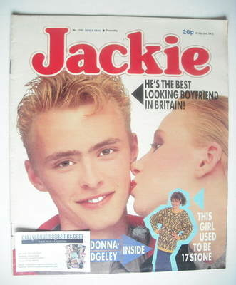 <!--1986-11-08-->Jackie magazine - 8 November 1986 (Issue 1192)