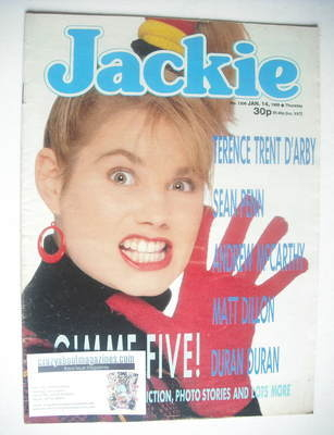 <!--1989-01-14-->Jackie magazine - 14 January 1989 (Issue 1306)