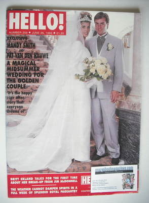 <!--1993-06-26-->Hello! magazine - Pat van den Hauwe and Mandy Smith weddin
