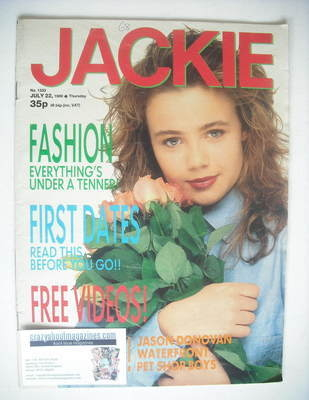 <!--1989-07-22-->Jackie magazine - 22 July 1989 (Issue 1333)