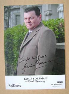 Jamie Foreman autograph (ex-EastEnders actor)