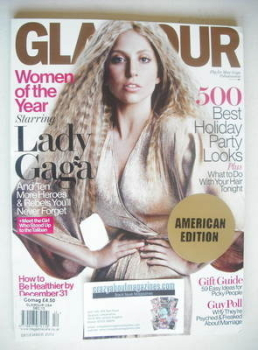 Glamour magazine - Lady Gaga cover (December 2013 - USA Edition)