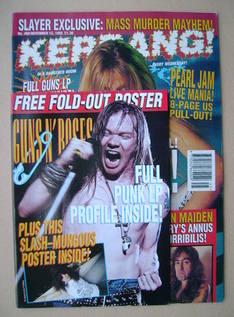 <!--1993-11-13-->Kerrang magazine - Sebastian Bach cover (13 November 1993