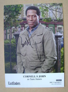 Cornell S John autograph (ex-EastEnders actor)