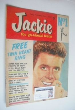 <!--1964-01-11-->Jackie magazine - 11 January 1964 (Issue 1 - Cliff Richard