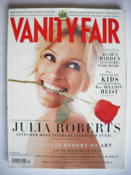 Vanity Fair magazine - Julia Roberts cover (December 2007)