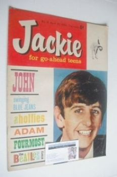 <!--1964-04-25-->Jackie magazine - 25 April 1964 (Issue 16 - Ringo Starr cover)