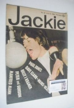 <!--1964-06-06-->Jackie magazine - 6 June 1964 (Issue 22 - Mick Jagger cover)