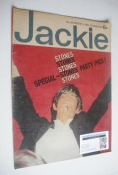 <!--1964-08-01-->Jackie magazine - 1 August 1964 (Issue 30 - Brian Jones cover)
