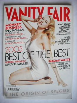 Vanity Fair magazine - Naomi Watts cover (January 2006)