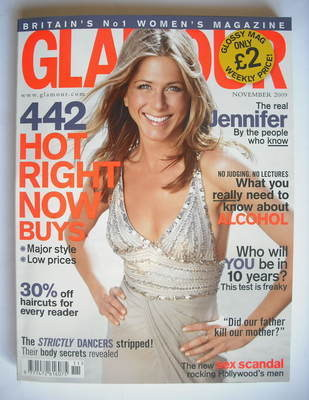 <!--2009-11-->Glamour magazine - Jennifer Aniston cover (November 2009)