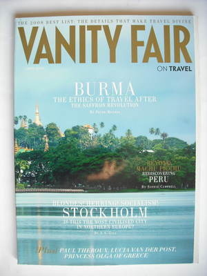 Vanity Fair On Travel magazine supplement (April 2008)