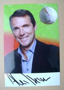 Alan Hansen autograph