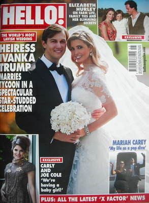 <!--2009-11-09-->Hello! magazine - Ivanka Trump wedding cover (9 November 2