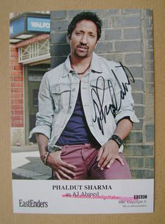 Phaldut Sharma autograph (ex-EastEnders actor)