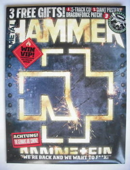 Metal Hammer magazine - Rammstein cover (November 2009)