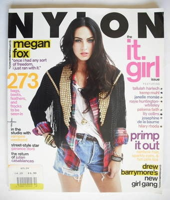 <!--2009-10-->Nylon magazine - October 2009 - Megan Fox cover