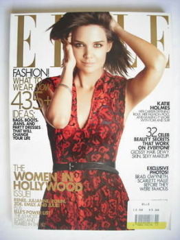 US Elle magazine - November 2009 - Katie Holmes cover