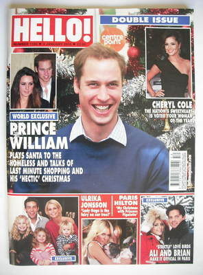 <!--2010-01-04-->Hello! magazine - Prince William cover (4 January 2010 - I