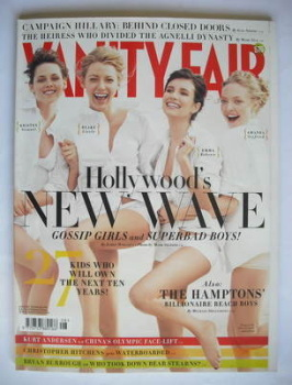Vanity Fair magazine - Kristen Stewart, Blake Lively, Emma Roberts and Amanda Seyfried cover (August 2008)