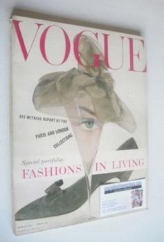 British Vogue magazine - March 1958 (Vintage Issue)