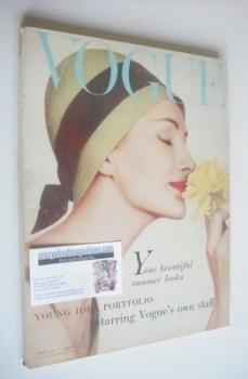 British Vogue magazine - April 1958 (Vintage Issue)