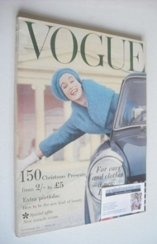British Vogue magazine - November 1958 (Vintage Issue)