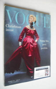British Vogue magazine - December 1958 (Vintage Issue)