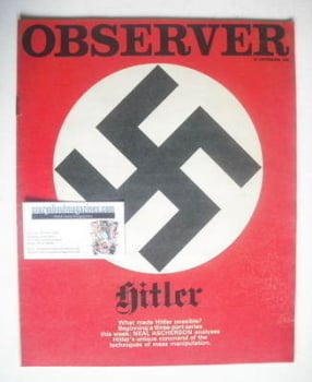 The Observer magazine - Swastika cover (22 September 1968)