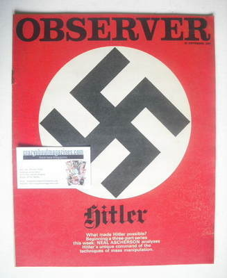 <!--1968-09-22-->The Observer magazine - Swastika cover (22 September 1968)