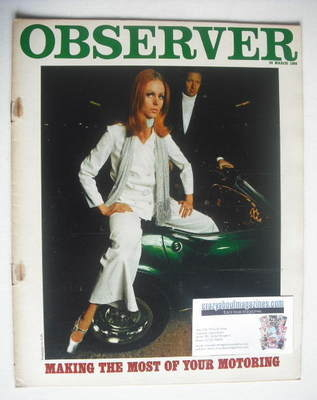 <!--1968-03-24-->The Observer magazine - Motoring cover (24 March 1968)