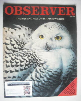 The Observer magazine - Britain's Wildlife cover (6 April 1969)