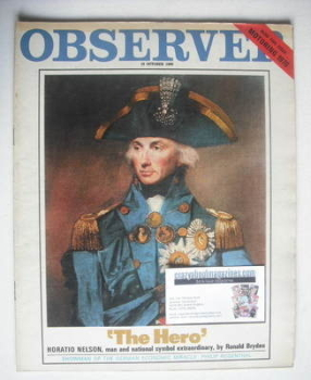 The Observer magazine - Horatio Nelson cover (19 October 1969)