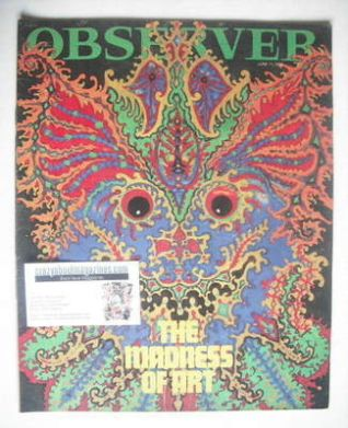 <!--1966-06-12-->The Observer magazine - The Madness Of Art cover (12 June