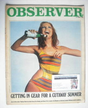 The Observer magazine - A Cutaway Summer cover (14 April 1968)