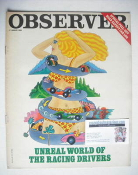 The Observer magazine - Racing Drivers cover (17 March 1968)