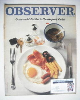The Observer magazine - Gourmets' Guide to Transport Cafes cover (27 August 1967)