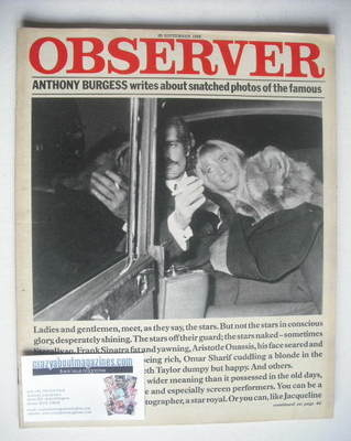 <!--1980-09-28-->The Observer magazine - Photos Of The Famous cover (28 Sep