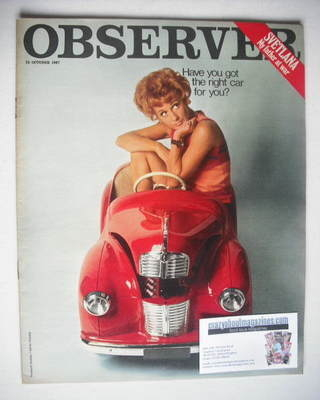 <!--1967-10-15-->The Observer magazine - The Right Car For You cover (15 Oc