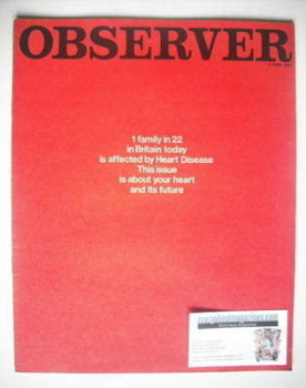 The Observer magazine - Your Heart cover (4 June 1967)