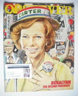 <!--1980-08-03-->The Observer magazine - Rosalynn Carter cover (3 August 19