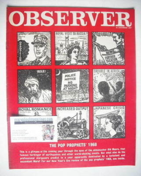 The Observer magazine - The Pop Prohes' 1968 cover (31 December 1967)