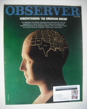 The Observer magazine - Understanding The American Dream cover (21 July 1968)