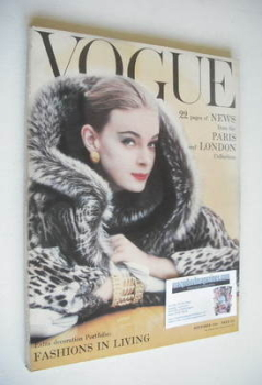 British Vogue magazine - September 1958 (Vintage Issue)
